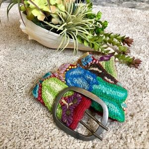 Accessories - Colorful Embroidered Belt